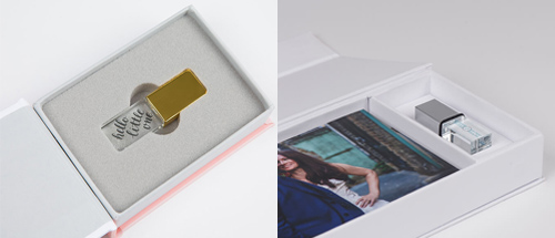 Image showing USB stick and presentation box